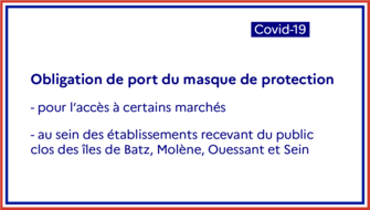 Obligation de port du masque de protection